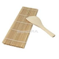 Wholesale 2014 New Sushi Rolling Maker DIY Bamboo Rolling Mat with One Rice Paddle Sushi Tool