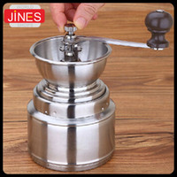 Wholesale Stainless steel grinding machine hand coffee Burr Mill machine rice sesame coffee beans manual grinders household
