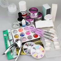 beauty nails shop - Nail Tool Vip Beauty Shop Pro Nail Art Acrylic Powder Color Set False Nail Tips Full Kit with Duck Nail Tips