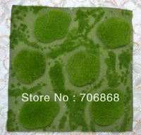 b moss - 1 Dozen quot x12 quot Water Sphagnum Artificial Moss Sheets with foam moss stones style B