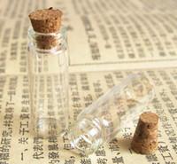Cheap Free Shipping - Wholesale 100sets lot 2.5cc Mini Glass Bottle Vials,2.5ml Charms Pendants With Cork.Sample Vial