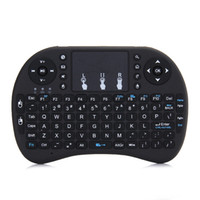 Wholesale RII mini i8 with rechargeable battery G Mini Wireless Keyboard with Touchpad Remote Control for PC Pad Google Andriod TV Box Xbox360 PS3