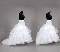 Wholesale In Stock New Long Train Wedding Dresses hoops Petticoat Underskirt crinoline Underdress Slip cheap Bridal Petticoats