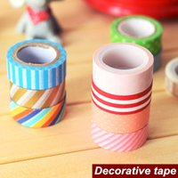 scrapbooking supplies - 6 Mini paper tape Japanese decorative tape Washi masking tapes Scrapbooking tools zakka Stationery School supplies