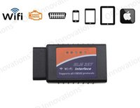 Wholesale 2014 New WIFI ELM OBD2 OBDII ELM327 V1 for Android IOS Auto Diagnostic Scanner Tool