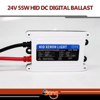 Cheap 2pcs 24V DC 55W TOP Quality Good Quality HID xenon slim digital ballast hid ballast car ballast Replacement Parts
