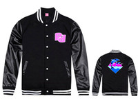 baseball trends - Pink dolphin baseball jackets men fashion hip hop man coats new hip hop jacket trend hiphop clothes outwear