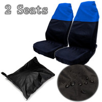 Wholesale Details about x Black Blue Front Universal Auto Car Water Resistant Nylon Seat Protectors Covers