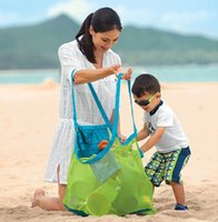 Wholesale Sand away beach bag with two handles easy portable kids good friends large capacity can folded in small size