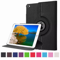 Wholesale For Apple iPad Pro Case Rotating Smart Cover PU Leather Protect Fundas Lichee Protector Cover For Ipad Pro