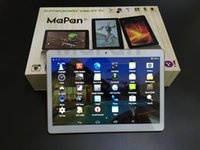 Wholesale Mapan inch Android G Phone call Tablet Quad core MTK6582 G G GPS bluetooth Dual Camera Tablets Pc