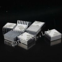 aluminum electrode - 20pcs Aluminum IC Two electrode tube Dynatron Cooling Cooler Heat Sink Heatsinks with tape x14x6mm heatsink aluminum