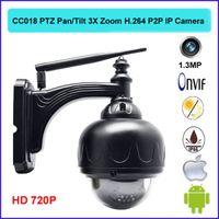 Wholesale Outdoor PTZ Pan Tilt X Zoom H P2P Plug and Play Wireless WiFi P IP Camera CCTV camera Security IR night Cut Dome CC018