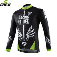 bicycle apparel for men - 2016 CHEJI Winter Long Sleeves for Men Pro Team Cycling Bike Bicycle Jerseys Sets Comfortable New Thermal MTB Bicycle Wear Clothing Apparel