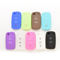 Wholesale New Silicone Car Remote Key Protector Cover Case For VW Volkswagen Jetta Passat Candy Auto Accessories Protection PC