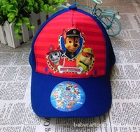 baseball hot dogs - Hot sall Paw Sun Hats Patrol Kids Hats Childrens Cartoon Animal Dog Caps Baseball Caps Boys Girls Hats Casual Caps bk028A