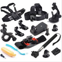 Wholesale 12 in GoPro Accessories Set Go pro Remote Wrist Strap Helmet Extention Kits Mount Chest Belt Mount Bobber For Go pro