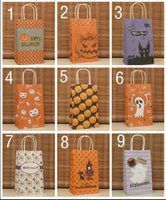 Cheap Free ship!1lot=40pc!The Halloween kraft paper gift bag, Festival gift bags, Paper bag with handles, wholesale price