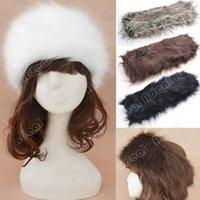 Wholesale Ladies Women s Faux Fur Headband Cossak Russian Style Hat Winter Earwarmer Earmuff Hat Ski SV006044