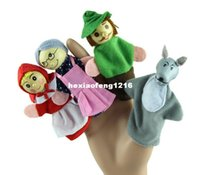 Wholesale New Modern Little Red Riding Hood Finger Puppets Christmas Gifts Baby Educational Toy