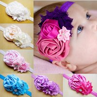 baby hats with big flowers - Rose Flower Hair Bows Clips Baby Headbands for Girls Big Bud Flower With Sequins Headbands Cute Baby Hair Accessories