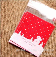 Wholesale 10PCs plastic Christmas bags gift bag packaging new year christmas decoration gift bags include bag only Z281