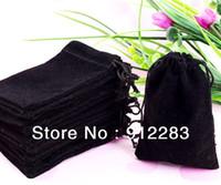 Wholesale x9cm Velvet Drawstring Pouch Bag Jewelry Bag Christmas Wedding Gift Bag