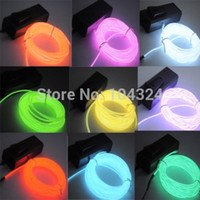 battery wires car - US M ft Flexible EL Wire Neon LED Light Rope Party Car Decorati BATTERY PACK