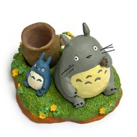 action calendar - Pen Case Eating Fruit Totoro Calendar Totoro Style Figure Doll Miyazaki Hayao My Neighbor Totoro DIY Micro Landscape Action Figures