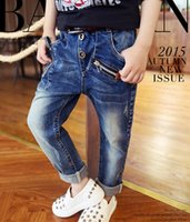 Wholesale Hot sell spring autumn baby jeans children s clothing boys wild baby jeans children trousers new Korean versi