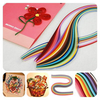 Wholesale Quilling Colorful Paper DIY printed grosgrain ribbon Kits Rolling Scrapbooking Strips Crafts Ornament Flower Cummerbund