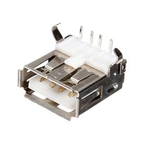 Wholesale USB Type A Female PCB Mount Socket Connector with high quality order lt no track