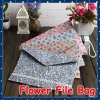 Wholesale FORREST SHOP School Office Stationery File Folders A4 Flower Fabric File Bag A4 Document Bag FRS