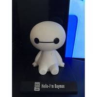 Wholesale 10CM Big Hero Baymax Robot Bobble Head Toys Car Toys PVC Action Figure Toy Car Accessories Shaking his head