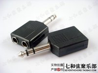 Wholesale One to two guitar connecting cables adapters audio connection wires sockets connecting holes