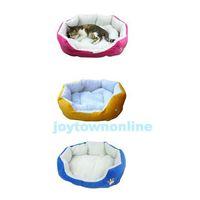 Wholesale Comfortable Pet Dog Cat Bed Cute Footprints Design Dog Cat Nest Soft Cotton Dog House BHU2