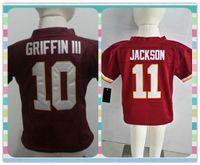 american robert - New Product American Football shirt Robert Washington Griffin III Infant Toddler Desean Jackson Baby s Red Jerseys children Jersey