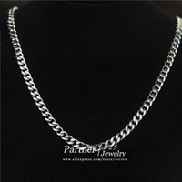 Wholesale 2015 New Design Classic Chain Necklace Men Sterling Silver Men Jewelry Statement Chunky Necklace Party Wearing Freepost