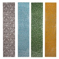 Wholesale 5 Colors x200cm Mosaic Aluminum Foil Self Adhensive Anti Oil Wallpaper for Kitchen High Temperature Resistant