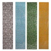 Wholesale 5 Colors x200cm Mosaic Aluminum Foil Self Adhensive Anti Oil Wallpaper for Kitchen High Temperature Resistant