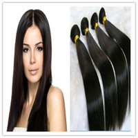 Coiffures cheveux malaisiens Prix-8A Coiffures courtes Cheveux droits Cheveux brésiliens brésiliens cambodgiens péruviens brésiliens Sans traitement 3PCS lot free shipping