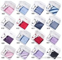 Wholesale Necktie Set Neck Tie Hanky Cufflinks Clip Kit Gift Box Gift Bag Perfect Present Men s Ties Sets Cuff Links Button Amazon