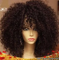 big full curls - Short hair wigs A grade brazilian kinky curl front lace wigs human hair full lace wigs density with natural hairline