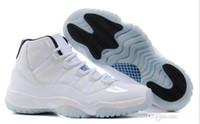 Compra High jump shoes-2016 xi Retro Zapatos 11 hombres de baloncesto corte del alto con los zapatos de salto Tick barato tamaño de los EEUU: 8-13