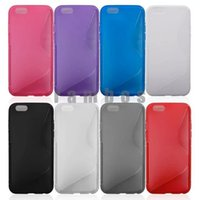 Cheap S Line Back Case Flexible TPU Case Mobile Phone Case Skin for iphone 6 plus 5.5