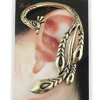 c037 - Min Order Mix Order C037 New Arrive Punk Style Metal Peacock Alloy Stud Earring Ear Clip