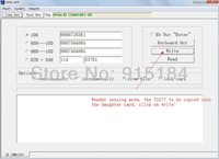 Wholesale 125KHz RFID ID Card Reader Writer Copier Programmer FREE Rewritable ID Card Keyfob COPY ISO EM4100 EM4102 Proximity T5577