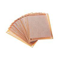 Wholesale 10Pcs new Prototype Paper Copper PCB Universal Experiment Matrix Circuit Board x7cm Brand New