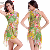 bathing suit wraps - 2016 Multi Wears Cover Ups Beach Dresses Swimwear For Women Floral Bikini Wrap Dress Bathing Suit Sexy Womens Swimsuit