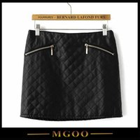 mini plaid skirt - MGOO Lastest Black Plaid Skirts Leather Mini Pencil Skirts Korean Fashion Women Skirts